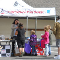 People at the Safe at Home Fair in 2012