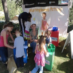 Children enjoy an activity at the Safe at Home Fair