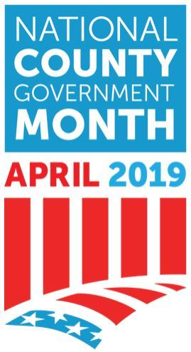Graphic that reads County Government Month, April 2019