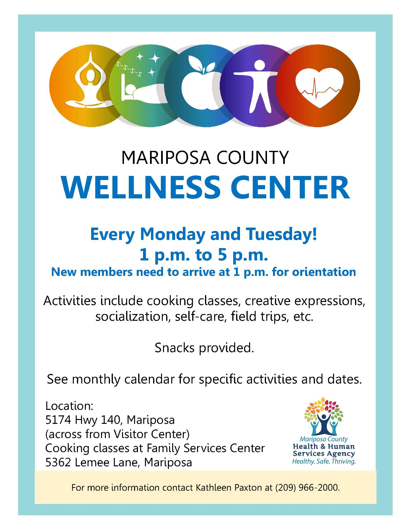Wellness Center Flyer