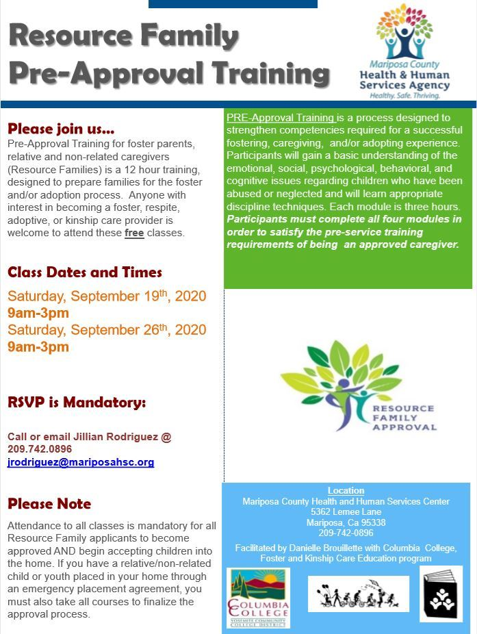 Resource Family Pre-Approval Training - September